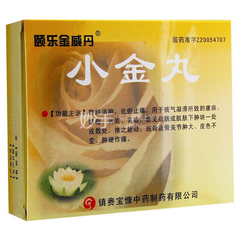 颐乐金威丹 小金丸 1.2g*4袋(每100丸重6g)
