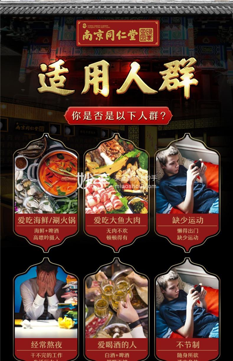 南京同仁堂 菊苣栀子茶桑叶百合茶