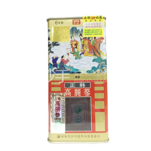 正韩 红参(正韩高丽参六年根)(铁盒+木盒) 37.5g 40支良