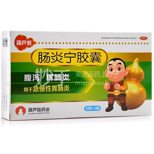 葫芦爸 肠炎宁胶囊 0.3克*12粒*4板