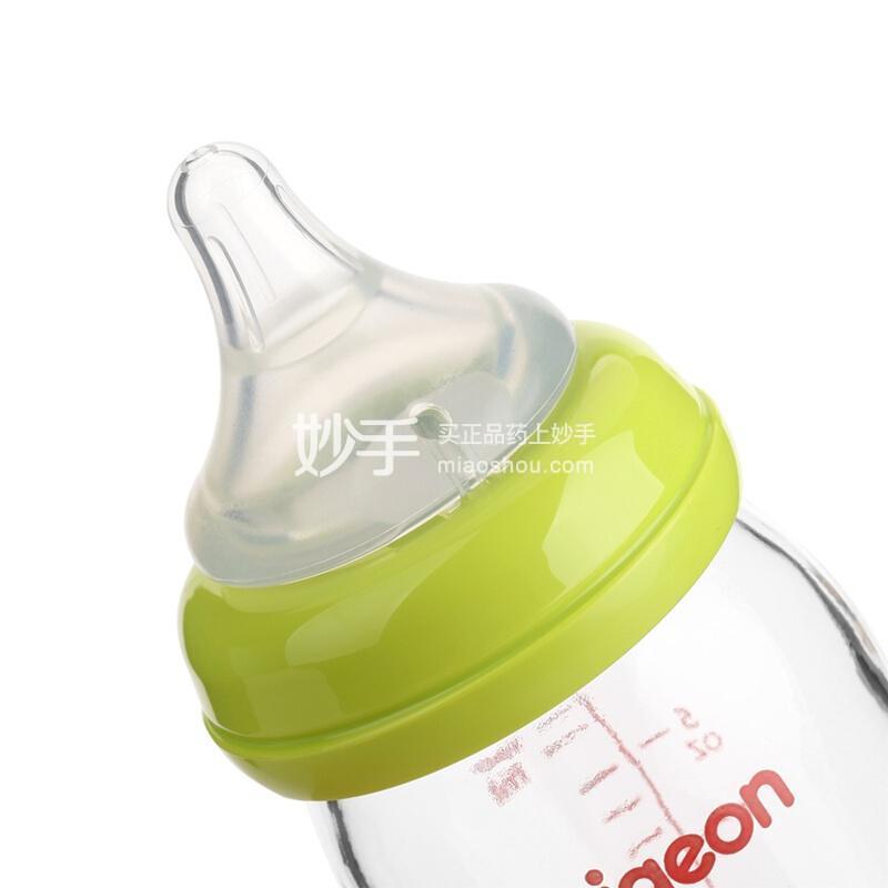 """贝亲-""""自然实感""""宽口径玻璃奶瓶240ml配L奶嘴"""